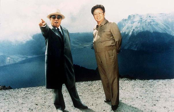 KIM IL SUNG WITH SON KIM JONG IL, NORTH KOREA - 1994