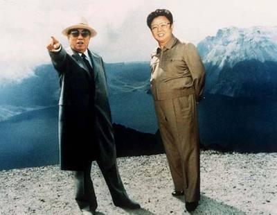 Mandatory Credit: Photo by Sipa Press / Rex Features ( 232005A ) KIM IL SUNG WITH SON KIM JONG IL KIM IL SUNG WITH SON KIM JONG IL, NORTH KOREA - 1994