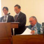 Projev chargé d´affaires KLDR s. Kim Čchon Se