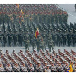 Vojenská prehliadka a manifestácia pracujúcich pri príležitosti 105. výročia narodenia Kim Ir Sena