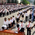 Dobrovolníci vstupují do Korejské lidové armády