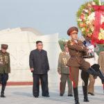 Soudruh Kim Čong Un navštívil hřbitov mučedníků Vlastenecké osvobozenecké války a hřbitov čínských dobrovolníků