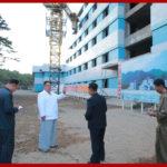 Vážený najvyšší vodca súdruh Kim Čong Un navštívil stavbu hotela Jombundžin