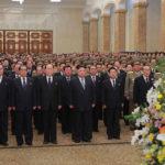 Soudruh KIM ČONG UN navštívil Palác slunce Kumsusan upříležitosti Nového roku čučche 108 (2019)