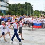 Slavnostní zahájení 34. táboření v Mezinárodním dětském táboře Songdowon
