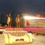 Masová shromáždění na oslavu 75let Korejské strany práce