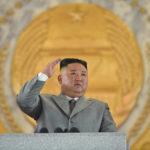Slavnostní vojenská přehlídka k75.výročí založení Korejské strany práce